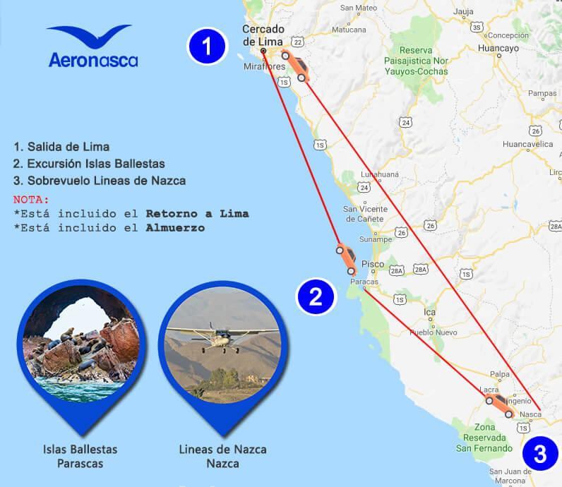Nazca Lines Overflight and Paracas Full Day