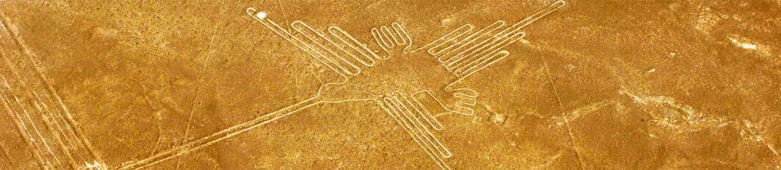 El colibrí, es una de las Lineas de Nazca en Peru.