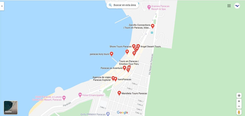 Paquetes Turisticos y Agencias de Viajes en Paracas